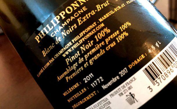 Controetichetta Philipponnat Blanc de Noirs 2011