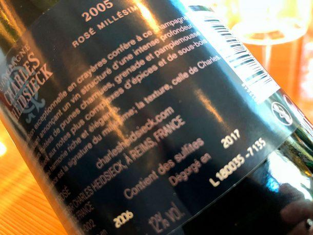 Controetichetta Rosé Millésime 2005
