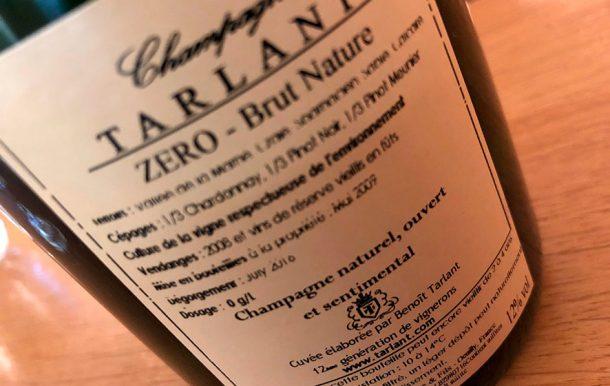 Controetichetta champagne Tarlant Zéro