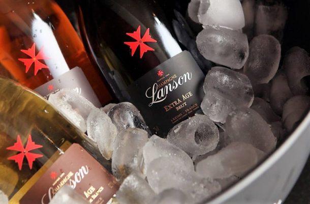 Lanson Extra Age Brut nel ghiaccio