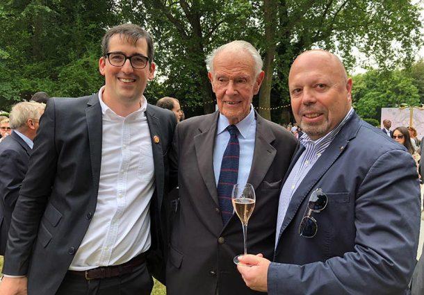 Alberto Lupetti insieme a Florent Nys e Jean Roland-Billecart