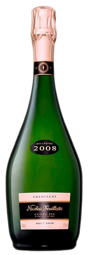 Bottiglia di Cuvée 225 Rosé 2008 Nicolas Feuillatte