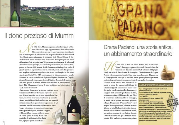 Guida Champagne, pagine interne abbinamenti