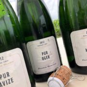I tre champagne Franck Bonville in degustazione