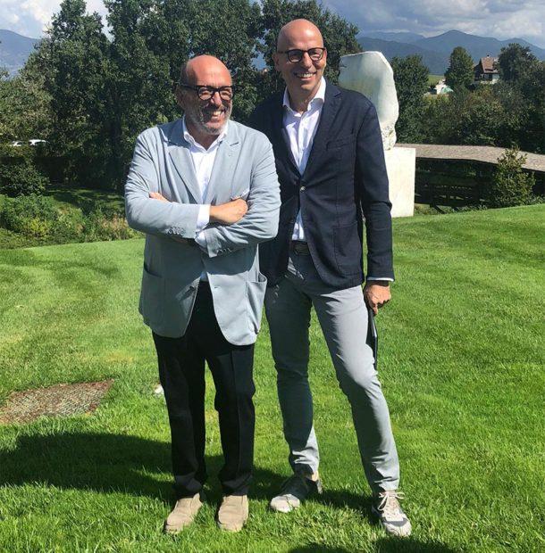 Maurizio Zanella e il suo abile 'chef de cave' Stefano Capelli