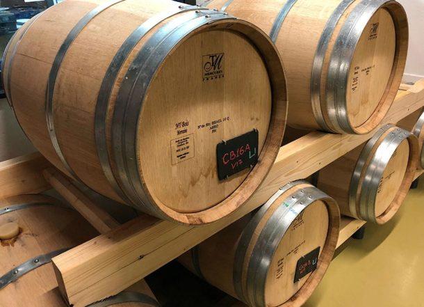 Botti in legno per lo champagne