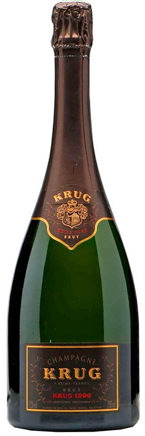 Bottiglia di Krug Vintage 1996