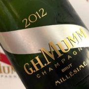 Recensione champagne Mumm millemimato 2012