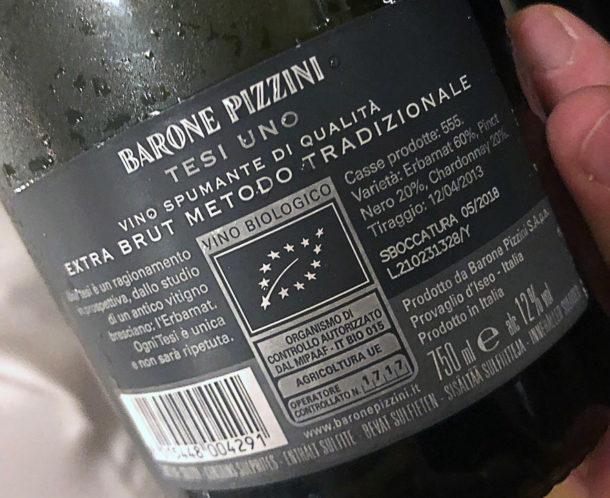 Controetichetta Barone Pizzini Tesi UNO