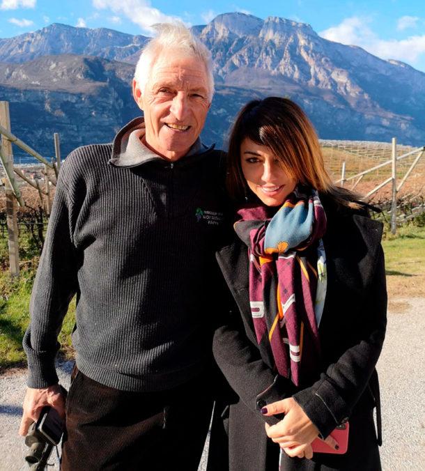 Francesco Moser e Vania Valentini