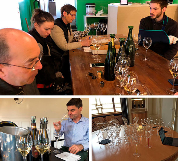 Degustazioni champagne con bicchiere Lehmann-Jamesse