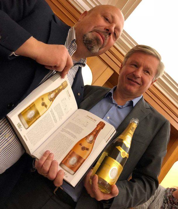 Alberto Lupetti con Jean-Baptiste Lécaillon e la Guida Grandi Champagne