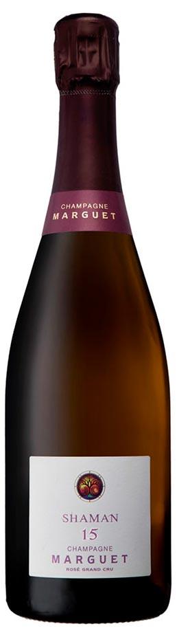 Bottiglia di champagne Margret Rosé Shaman 15