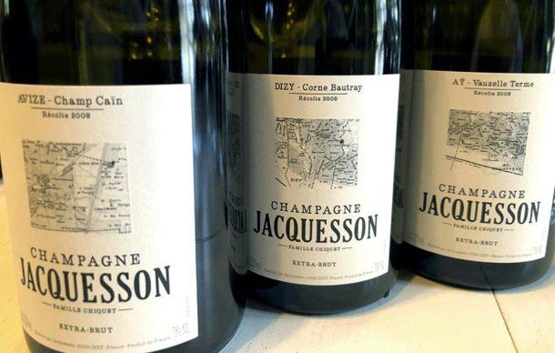 Bottiglie degustazione Jacquesson 2008