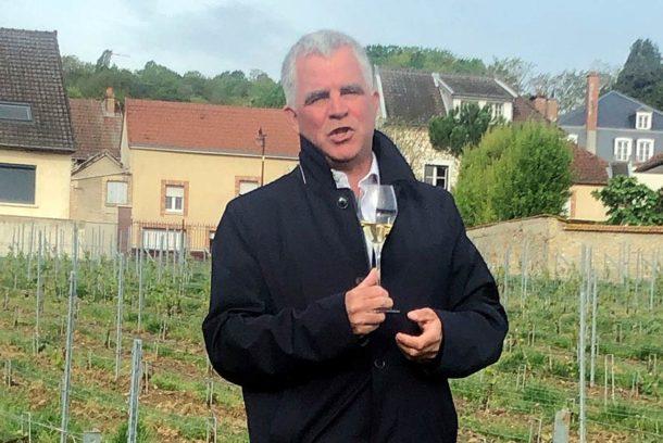 Olivier Krug con la guida Grandi Champagne 2018