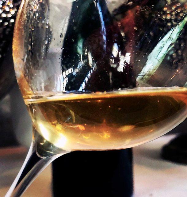 Bicchiere con champagne