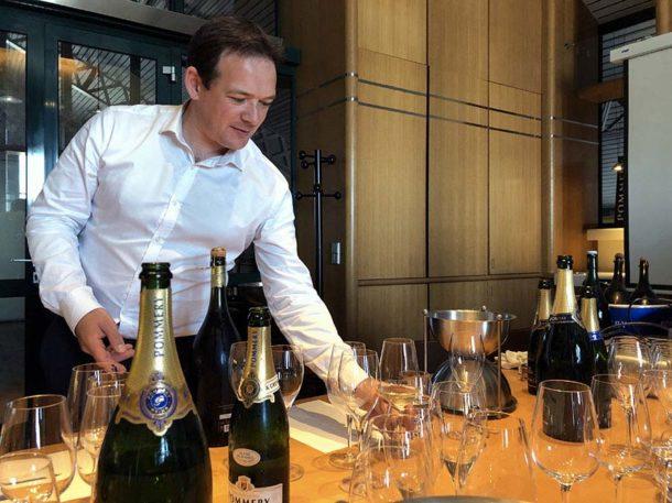 Degustazione con lo chef de cave di Pommery Clément Pierlot