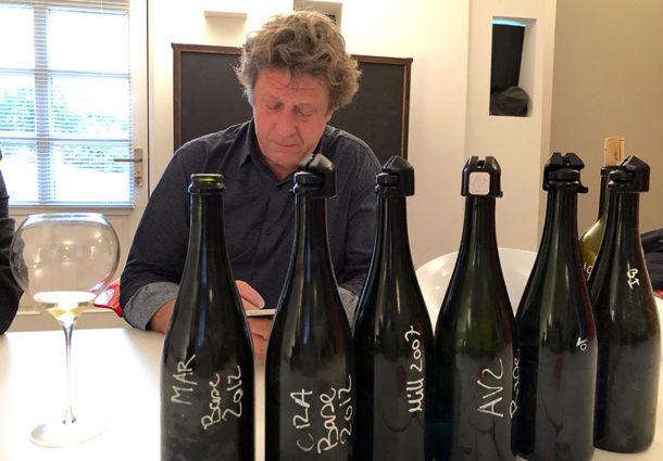 Selosse degustazione gamma nuovi champagne