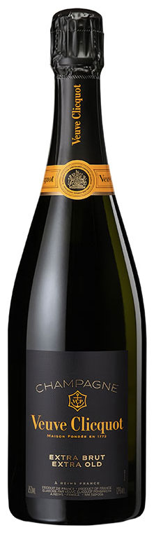 Bottiglia di Extra Brut Extra Old Veuve Clicquot