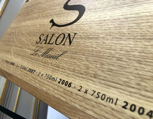 Contenuto champagne cassetta Salon