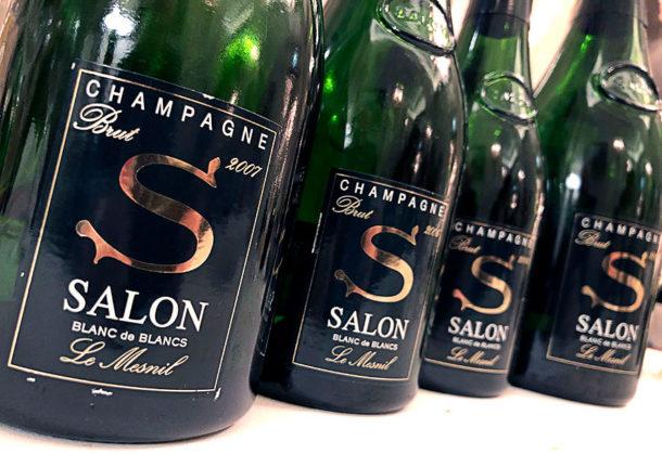 Tre bottiglie Salone e la magnum 2008