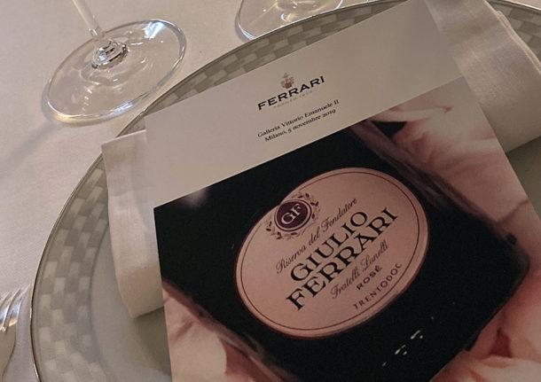 Serata degustazione a Milano del Giulio Ferrari
