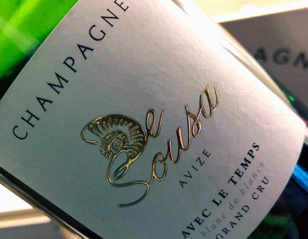 Degustazione champagne De Sousa Avec le Temps