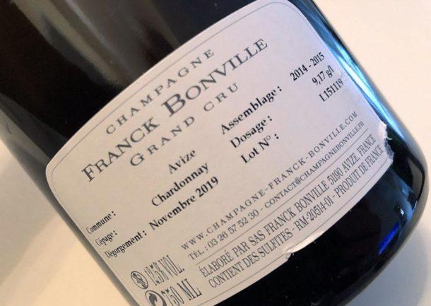 controetichetta Champagne Bonville