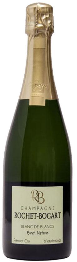 Bottiglia di champagne Blanc de Blancs Brut Nature Rochet-Bocart