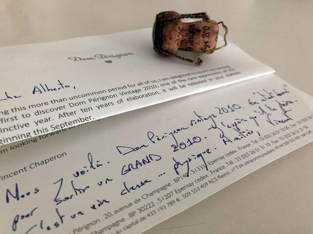 lettera dom pérignon
