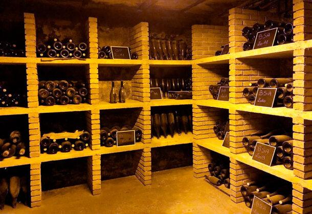 La 'vinothèque' di Doyard