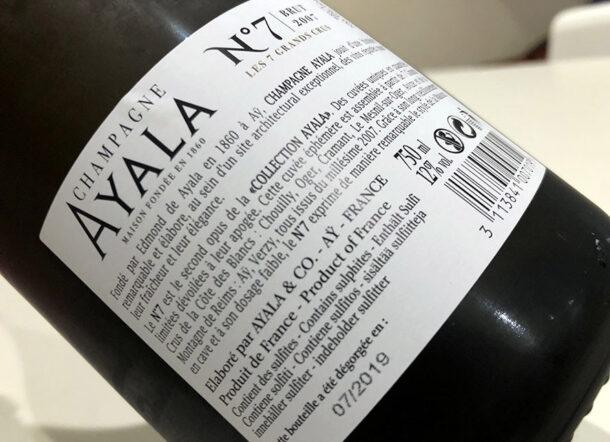 Controetichetta Champagne N° 7 Ayala