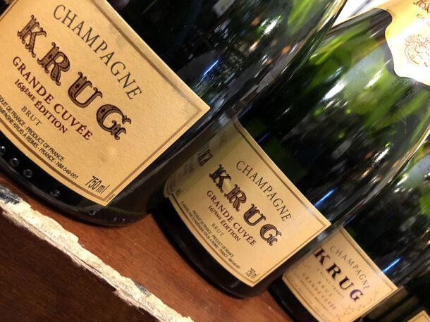 Krug Champagne, 3 bottiglie della verticale