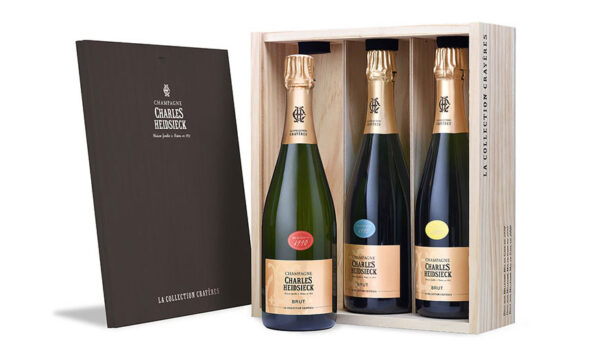 Cofanetto 'Collection Crayères 2020' con tre bottiglie