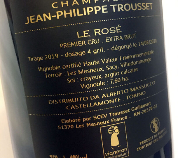 Controetichetta Trousset Le Rosé