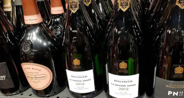 etichette champagne a scaffale