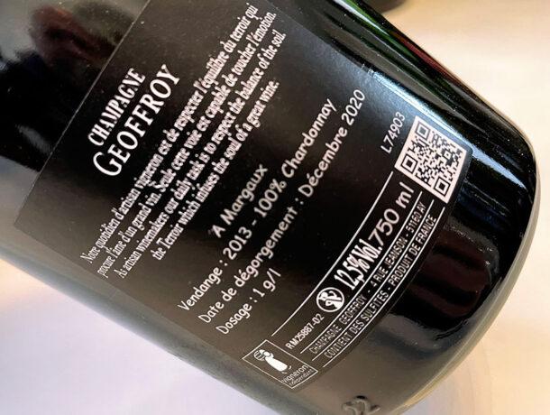 Controetichetta champagne Geoffroy