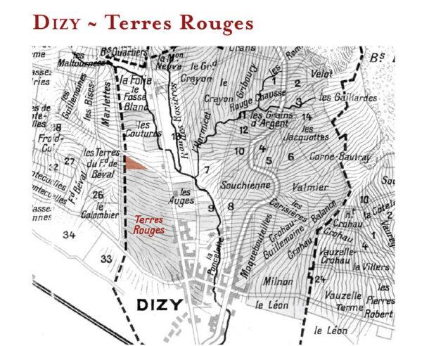 Vigneto 'Terres Rouges' di Jacquesson